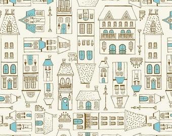 Michael Miller Fabrics - City Hopper by Lisa Glanz - City Scene - DC9176-Blue-D