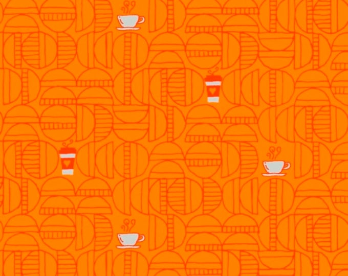 Windham Fabrics - Favorite Things by Sassafras Lane - Orange Coffee - 52156-6