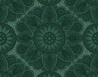 Henry Glass Fabrics - Sage and Seaglass by Kim Diehl - 1536 11 - Green