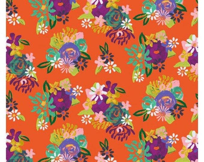 Clothworks Fabrics - Painted Petals - Orange - Y3073-37