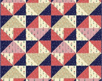 Hello There Pattern in Meriwether by Amy Gibson for Windham - 48x48 Precut Quilt Kit and Fabric for Binding