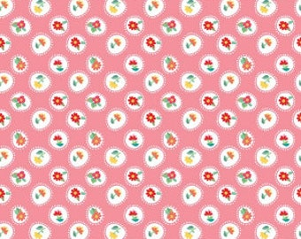 Riley Blake Fabrics - The Handpicked Collection by Tammie Green - Pink (C7601)