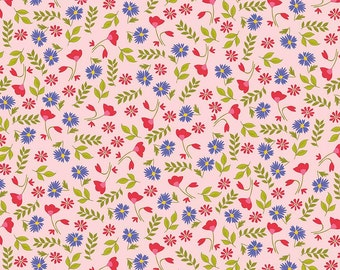 CLEARANCE - Penny Rose Fabrics - Meadow Sweets by Jililly Studios - Meadow Floral Pink - C5651-PINK
