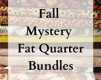 LIMITED EDITION - Fall Themed Mystery Bundles of Fabric - 10 Fat Quarters