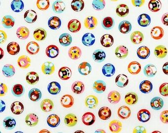 RJR Fabrics - Mofpof - Critter Caps Candy  (3291-01) - Juvenile