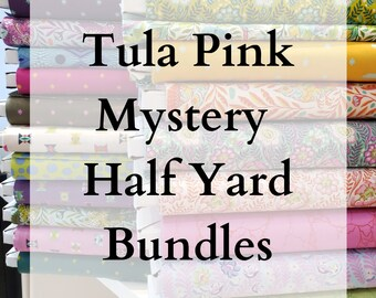 LIMITED EDITION - Tula Pink Mystery Half Yards of Fabric (Eden, Spirit Animal, Tabby Road, Pinkerville, True Colors) - 6 half yards