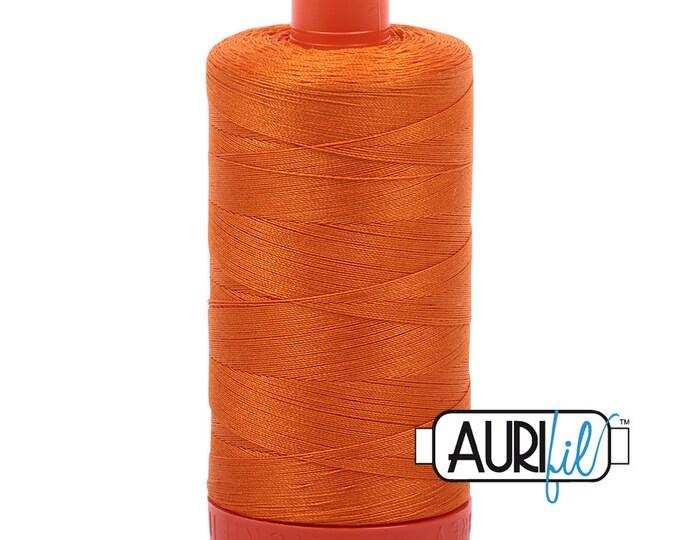 50 Wt AURIFIL - Bright Orange 1133 - Mako Made in Italy 1300m Quilt Cotton Quilting Thread