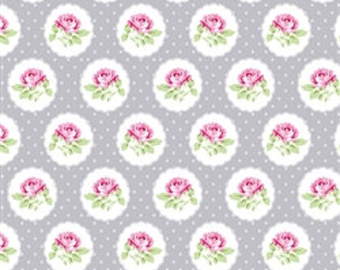 CLEARANCE - Free Spirit - Charlotte by Tanya Whelan - Dotted Rose - PWTW149.GrayX