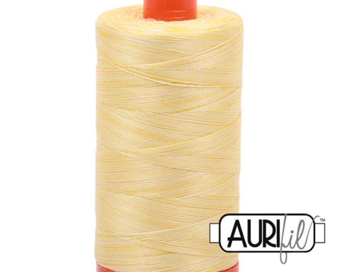 50 Wt AURIFIL Lemon Ice 3910 Variegated Mako Made in Italy 1300m Quilt Cotton Quilting Thread (MK50SC6)