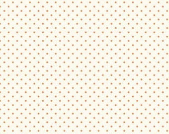 CLEARANCE - Riley Blake - Le Creme Dots - C600-60 - Orange