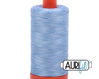 50 Wt AURIFIL - Stone Washed Denim 3770 - 1300M Cotton Quilting Thread
