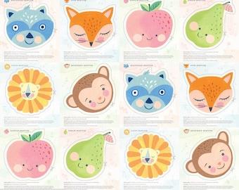 "Blend Fabrics - Storytime Daydreams Softie Panel - Storytime - Brenda Walton - approx 36"" x 44"""