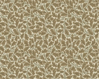 Jade Fabric D - Orkney by Morris and Co for Free Spirit Fabrics - PWWM050.Linen
