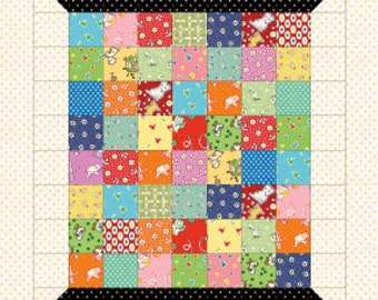 """Little Spool Kit using Tensisters 2"""" finished square grids - Complete kit with precut squares and borders"""