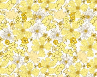 In the Beginning - Yellow - Garden Delights by Grey Sky Studio (IBF 6GSE-2) - Floral
