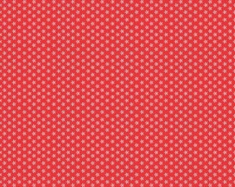 Riley Blake Designs - Red Tiny Daisy - Bee Basics by Lori Holt (C6403- RED) blenders