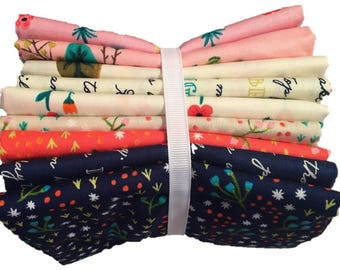 9 Print Fabric Bundle - Meriwether by Amy Gibson for Windham Fabrics - Quilters Cotton- Fabric by the Yard