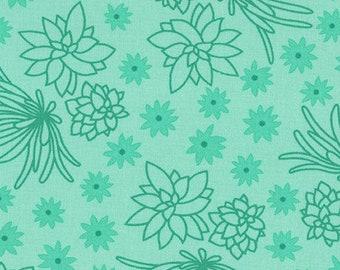 Robert Kaufman Fabrics - Terrarium by Elizabeth Hartman - Emerald (AZH-17285-40) - Blenders