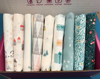 Little Town by Amy Sinibaldi for Art Gallery Fabrics - 9 print bundle -  Quilters Cotton