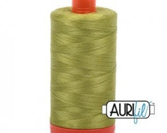 50 Wt AURIFIL Spring Green 1231 Mako Made in Italy 1300m Quilt Cotton Quilting Thread (MK50SC6)