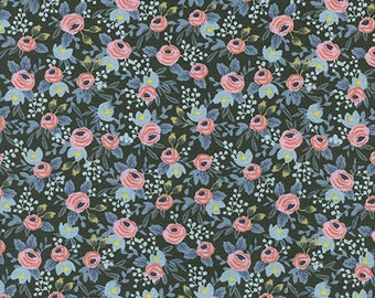 CLEARANCE - One Yard Cut - Rosa in Hunter - Menagerie by Rifle Paper Company (Cotton + Steel for RJR Fabrics)