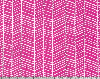 Free Spirit - Herringbone - Joel Dewberry True Colors (PWTC007  - Fuschia) - Blenders