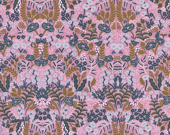 CLEARANCE - One Yard Cut - Tapestry in Violet - Menagerie by Rifle Paper Company (Cotton + Steel for RJR Fabrics)
