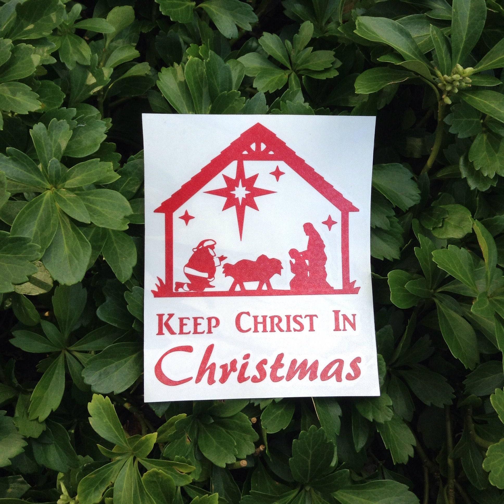 Keep Christ In Christmas Vinyl Decal Car Window Decal | Etsy