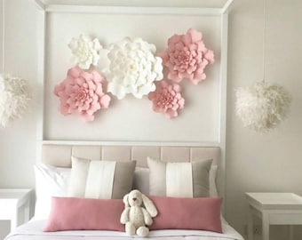 Paper Flowers Wall Etsy