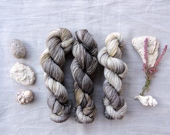 Brown Mix 4ply - Hand Dyed Yarn -  100% merino wool