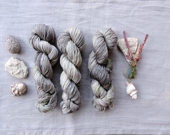 Green Mix 4ply - Hand Dyed Yarn -  100% merino wool