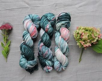 Grass and Strawberries DK- Hand Dyed Yarn -  100% merino wool