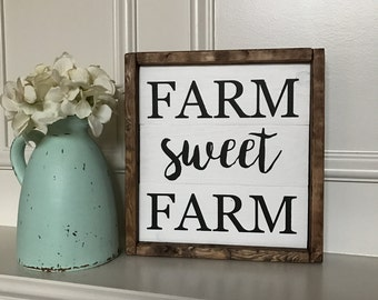 Farm Sweet Farm Framed Sign