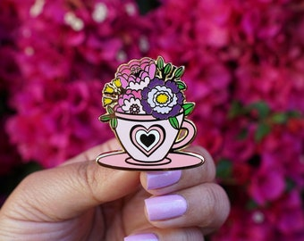 Tea Time in Wonderland Hard Enamel Pin