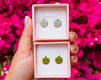 Pink and Blue Poison Apple Inspired Handmade Stud Earrings