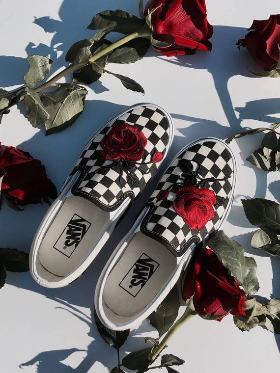 vans slip rose