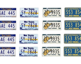 scale model car West Virginia license tag plates