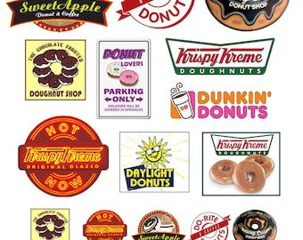 scale model donut shop signs