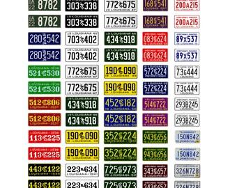 scale model car assorted USA license plates Louisiana state  tags 1/18 1/25 1/43 1/64