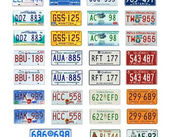 scale model car Canada license tag Canadian plates