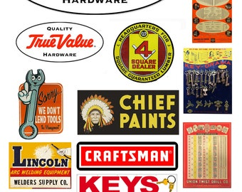 scale hardware store signs