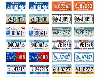 scale model car USA handicapped license tag disabled plates