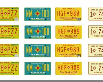 scale model car New Mexico license tag plates