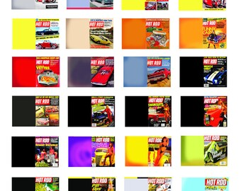 scale model car Hot Rod magazines