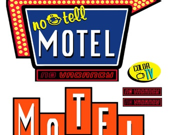 scale model Motel Signs
