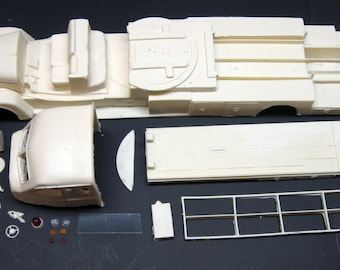 1:25 scale model resin 1957 Seagrave Canopy Cab Aerial Ladder fire truck conversion kit