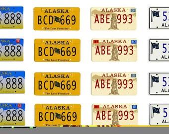 scale model car Alaska license tag plates