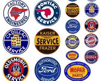 1:25 G scale model vintage car automobile service center signs