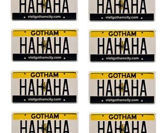 scale model toy car Batman Joker license plates tags