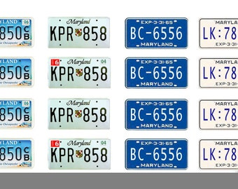 scale model car Maryland license tag plates